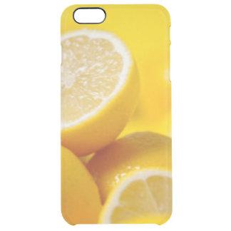 Yellow Lemons Clear iPhone 6 Plus Case
