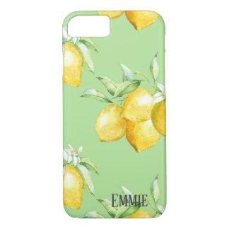 Yellow Lemons on Light Green iPhone 8/7 Case