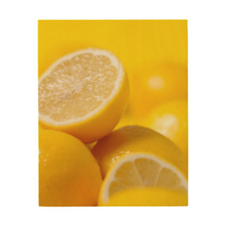 Yellow Lemons Wood Wall Art