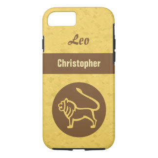 Yellow Leo Zodiac iPhone 7 Case
