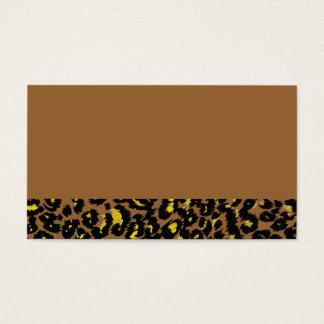 Yellow Leopard Spots Pattern Business Card