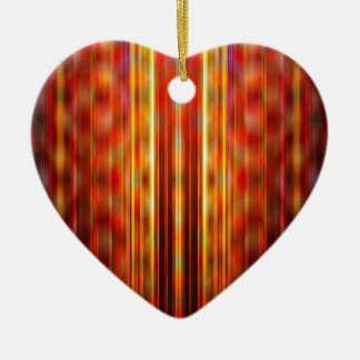 Yellow light streaks pattern ceramic heart decoration