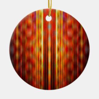 Yellow light streaks pattern round ceramic decoration
