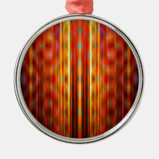 Yellow light streaks pattern Silver-Colored round decoration