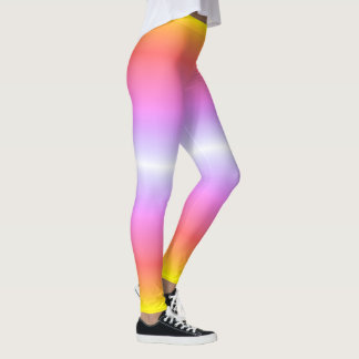 Yellow Lightning Ombre Pastel Pink Neon Yellow Leggings