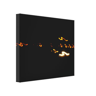 Yellow Lights Gallery Wrapped Canvas