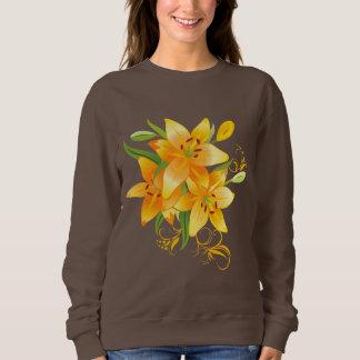 Yellow Lilies Dark Sweatshirt