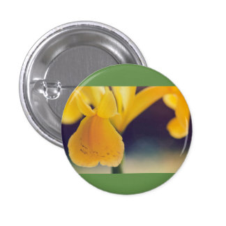 Yellow lily 3 cm round badge