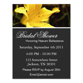 Yellow Lily  Bridal Shower Invitations