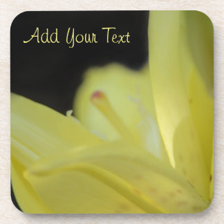 Yellow Lily by Shirley Taylor Drink Coasters