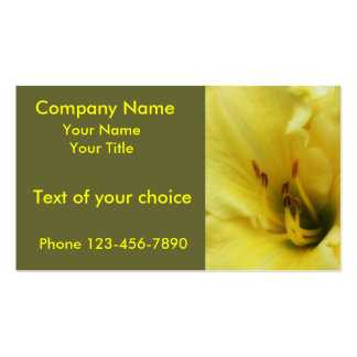 Yellow Lily Close Up on Business Card