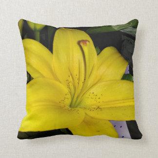 Yellow Lily Cushion