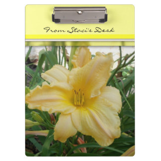 Yellow Lily Flower Clip Board Clipboards