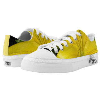 Yellow Lily Low Tops