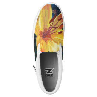 Yellow lily Slip-On shoes