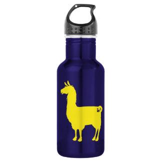 Yellow Llama Water Bottle