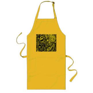 yellow long apron