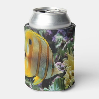 yellow longnose butterfly fish Can Cooler