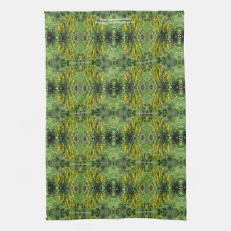 Yellow Loostrife and Daisies Tea Towel