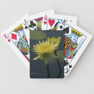 Yellow Lotus Waterlilies Playing Cards