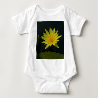 Yellow Lotus Waterlily Baby Bodysuit