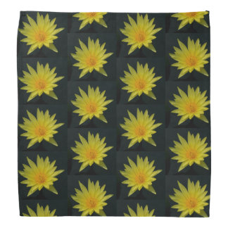 Yellow Lotus Waterlily Bandana