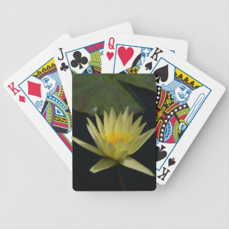 Yellow Lotus Waterlily Bicycle Playing Cards