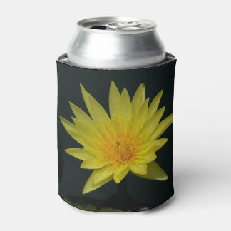 Yellow Lotus Waterlily Can Cooler