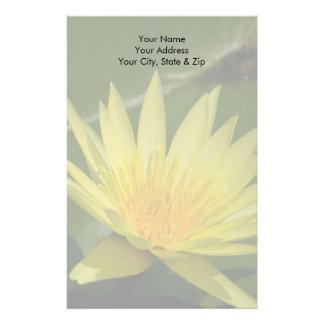 Yellow Lotus Waterlily Flower Stationery