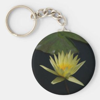 Yellow Lotus Waterlily Key Ring