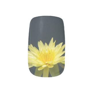 Yellow Lotus Waterlily Nail Art