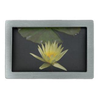 Yellow Lotus Waterlily Rectangular Belt Buckle