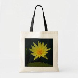 Yellow Lotus Waterlily Tote Bag