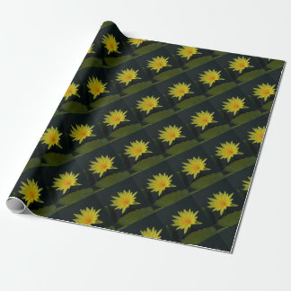 Yellow Lotus Waterlily Wrapping Paper
