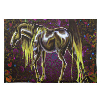 Yellow Love Horse Placemat