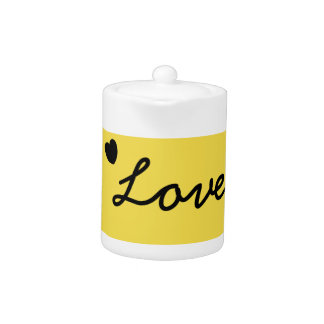 Yellow love tea pot.