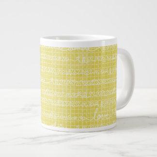 Yellow Love Words Jumbo Mug Soup Ice Cream Jumbo Mug