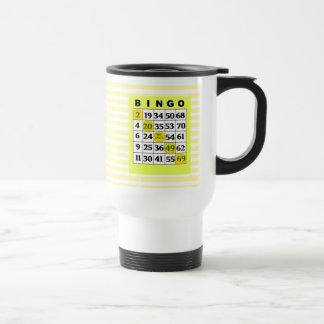 Yellow Lucky BINGO Card Mug