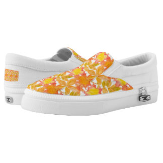 Yellow Maple Leaves Printed Shoes