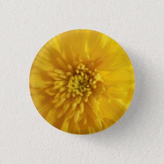 Yellow Marigold 3 Cm Round Badge