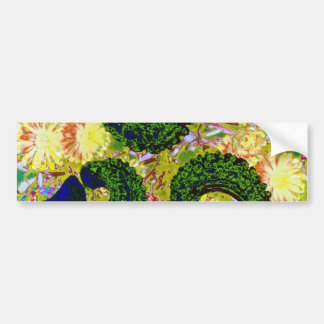yellow Marigold seeds (Calendula officinalis) flow Bumper Sticker