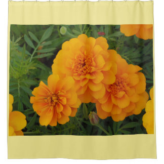 Yellow Marigold Shower Curtain