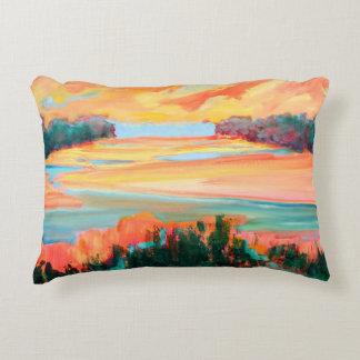 Yellow Marsh Scene Decorative Cushion