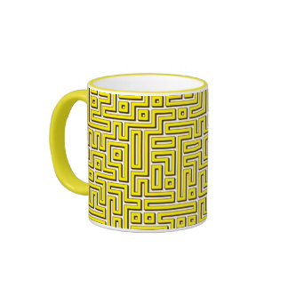Yellow Maze Mug