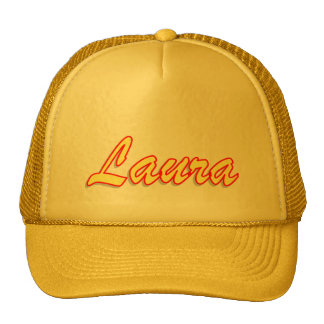 Yellow Mesh Hat for Laura