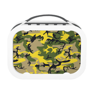 Yellow Military Camouflage Lunch Boxes