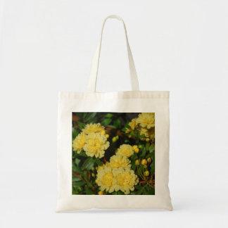 Yellow Mini Rose Cluster Tote Bag