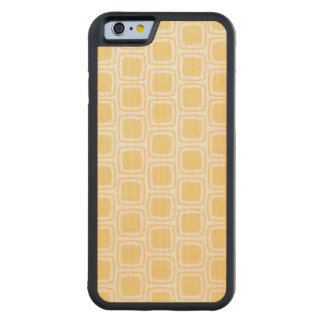 Yellow Modern Geometric Pattern Carved® Maple iPhone 6 Bumper