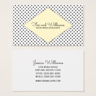 Yellow Modern Polka Dots Business Card