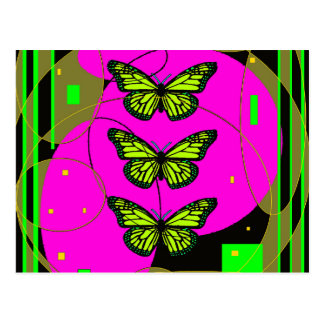Yellow Monarch butterflies by Sharles Postcard